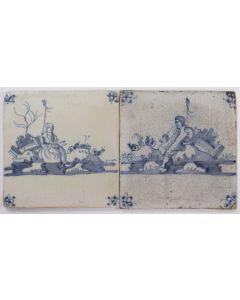 Stel herdertegels, 18e eeuw