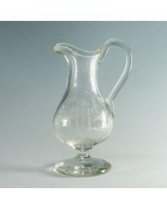 Glazen ampul voor miswijn, 19e eeuw