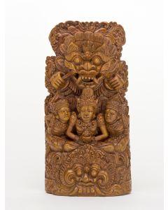 Balinees houten beeld, Goden en Demonen, ca. 1950