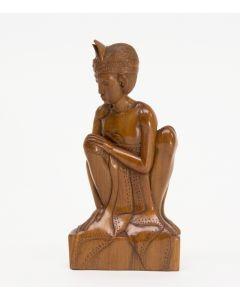 Balinees beeld, zittende man, ca. 1950