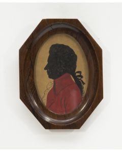 Silhouetportret van Wolfgang Amadeus Mozart, ca. 1900. (Ex collectie Robert Stolz).