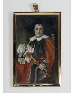 Charles James Turrell, portretminiatuur van John Jones Jenkins, 1st Baron Glantawe, 1909