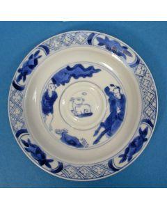 Chinees porseleinen schoteltje, Kangxi periode, 18e eeuw