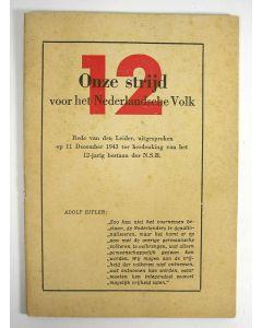'Onze strijd voor het Nederlandsche volk', rede van Anton Mussert, 1943