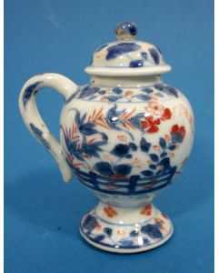 Chinees Imari mosterdpot, 18e eeuw