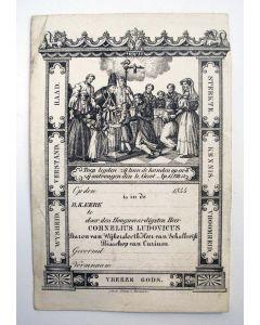 Vormselprentje van Mgr. C.L. Baron de Wijkerslooth, 1844