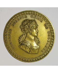 Plaquettepenning met afbeelding van Hortense de Beauharnais, koningin van Holland