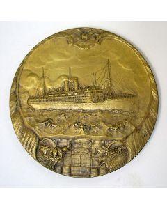 Penning, 50 jaar Stoomvaart Maatschappij Nederland, 1920  {J.C. Wienecke]
