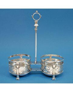 Zilveren flessenhouder, Amsterdam 1725