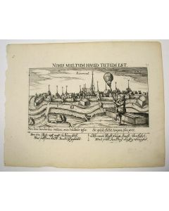 Gezicht op de stad Roermond, kopergravure, 1623.
