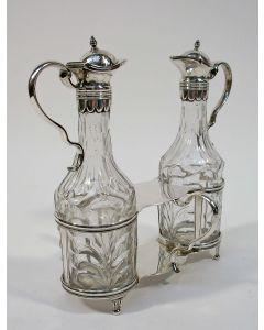 Zilveren olie- en azijnstel, Leeuwarden 1797