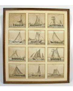'Verscheide soorten Hollandse vaartuigen. 6e catern door G. Groenewegen. 1791'