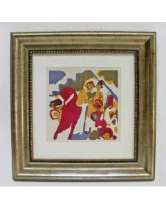 Wassily Kandinsky, 'Allerheiligen', houtsnede in kleur