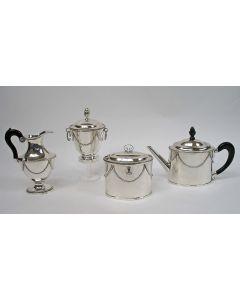 Vierdelig zilveren theeservies, Rudolf Sondag, Rotterdam, 1796/1809