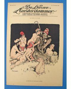 Piet van der Hem, De verzoeking van den heiligen Antonius, litho voor de Nieuwe Amsterdammer, 1915
