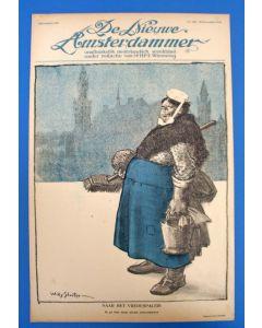 Piet van der Hem, Naar het Vredespaleis, litho voor de Nieuwe Amsterdammer, 1916