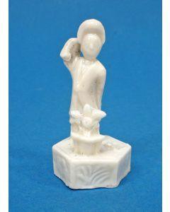 Blanc de Chine beeldje van een oosterse dame, Dehua, Kangxi periode