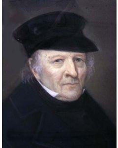 Berend Kunst, portret van Ds. Hoog, Barneveld 1861