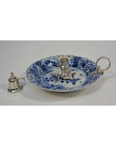 Chinees porseleinen blaker, met Nederlandse zilveren monturen