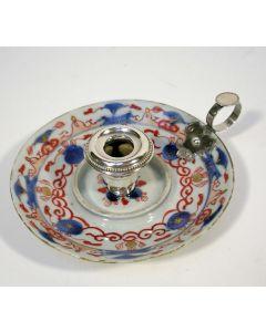 Chinees Imari porseleinen blaker, met Nederlandse zilveren monturen