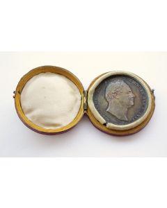 Zilveren kroningsmedaille van Koning William IV van Engeland 1831