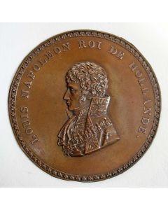 Plaquettepenning met afbeelding van Koning Lodewijk Napoleon, 1806