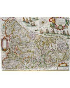 Kaart van de XVII Provinciën, door Willem Blaeu, ca. 1635