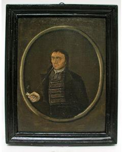 Portret van een rokende heer, ca. 1800