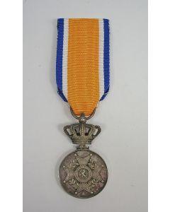 Eremedaille Oranje Nassau in zilver, buitenlandse vervaardiging, ca. 1900
