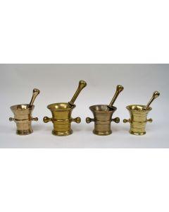 Geelkoperen vijzels, ca. 1800