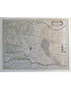 Handgekleurde kaart van de Provincie Utrecht, uitgave Willem Blaeu, 1635