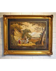 J. Braak, Italiaans landschap met reizigers, 1844