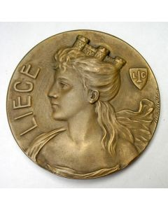 [België] Penning ter gelegenheid van de toekenning van het Legion d'Honneur aan de Stad Luik vanwege haar heldhaftigheid in 1914