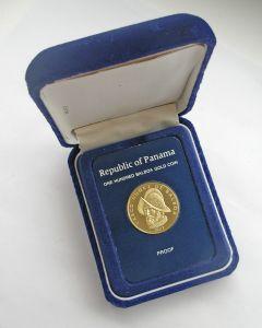 Panama, gouden munt, 100 balboa, 1977