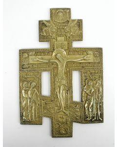 Bronzen iconenkruis 19e eeuw