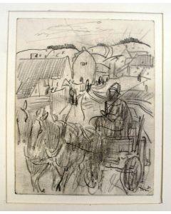 Willem van Konijnenburg, Limburgs landschap met boerenwagen, 1924