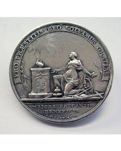 Penning ter gelegenheid van het zilveren huwelijk van A. Cleyndert en Y. Taanman, 1804