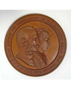 Penning, Huwelijk Prins Hendrik, beschermheer van de Nederlandse Weerbaarheidsverenigingen, en Prinses Marie van Pruissen,1878
