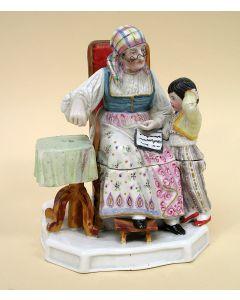 Porseleinen inktstel, 19e eeuw