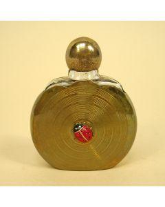 Messing parfumflesje met lieveheersbeestje, art deco