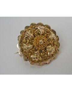 Gouden broche, 19e eeuw