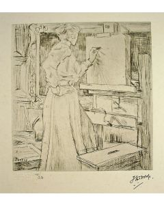 Jan Toorop, 'In 't atelier', ets, 1901