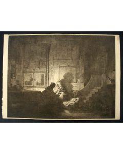 'De heilige familie', ets naar Rembrandt