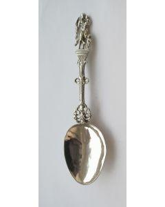 Friese zilveren gelegenheidslepel, meesterteken 'Vogel', Leeuwarden, ca. 1800