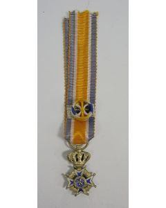 Commandeur Oranje Nassau, miniatuur draagmedaille