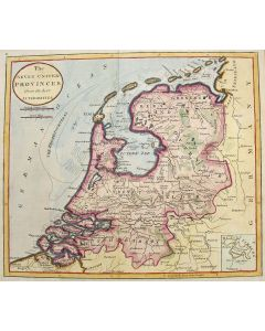 Gekleurde prent van de Nederlandse Zeven Provinciën, 1807