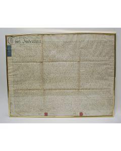 Charter op perkament, akte tussen George Dickenson en John Taylor, Manchester, Lancashire 1800