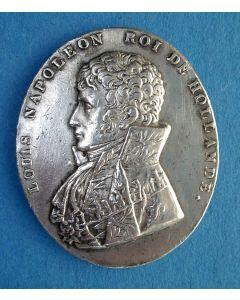 Plaquettepenning met afbeelding van Koning Lodewijk Napoleon