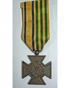 Metalen Kruis Vrijwilligers, 1830-1831, met combinatielint MWO