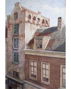 Johan Paul Grolman, Het poortgebouw van Zoudenbalch in de Mariastraat te Utrecht, aquarel, ca. 1900